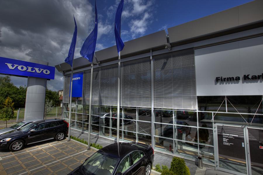 Żaluzje fasadowe showroom Warszawa