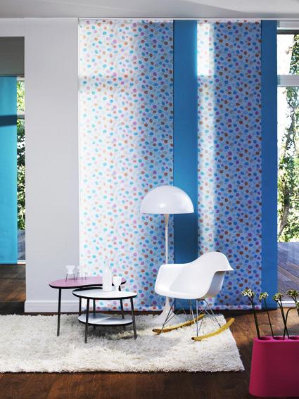 Kolorowe panele okienne w kropki Warszawa