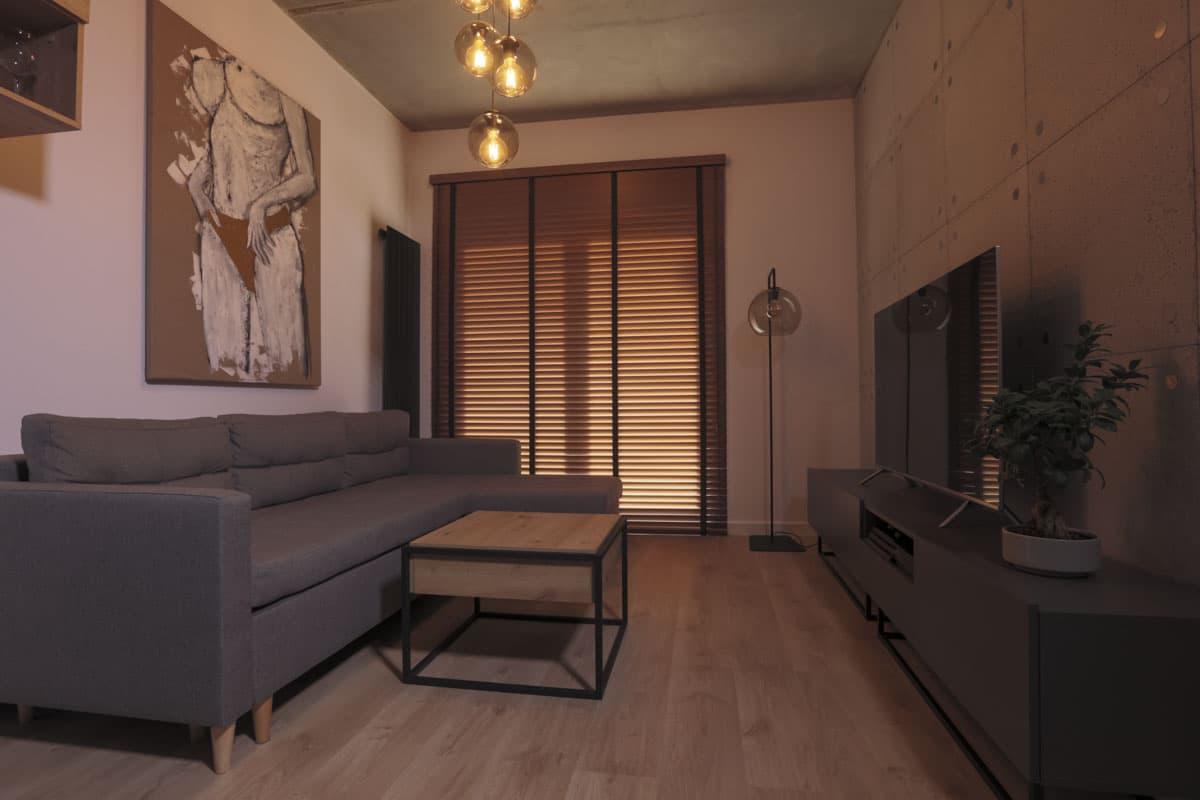 Żaluzja drewniana na wymiar do salonu