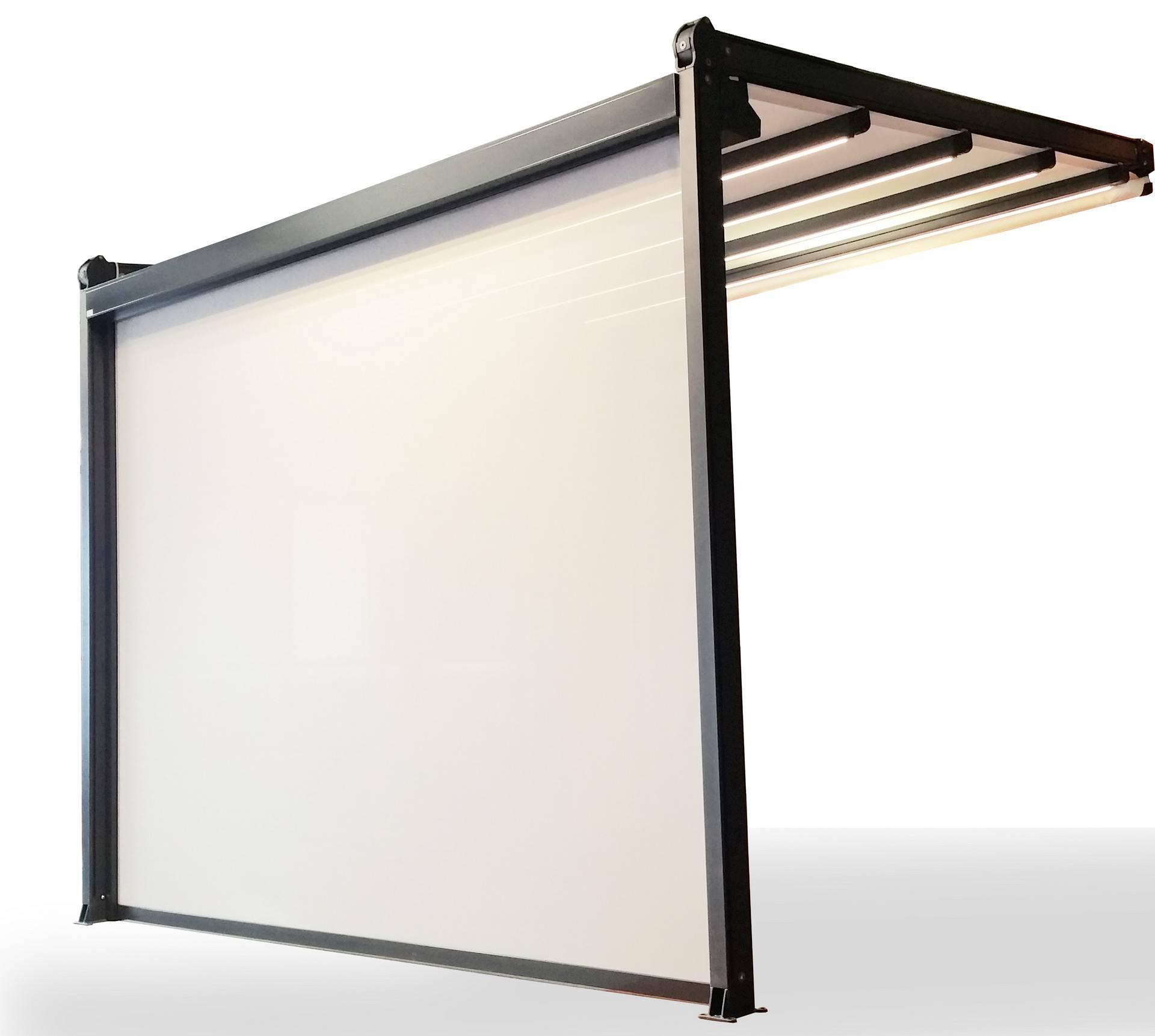 Pergola segmentowa z roletą screen