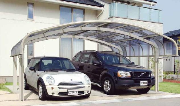 Wolnostojące wiaty na dwa samochody